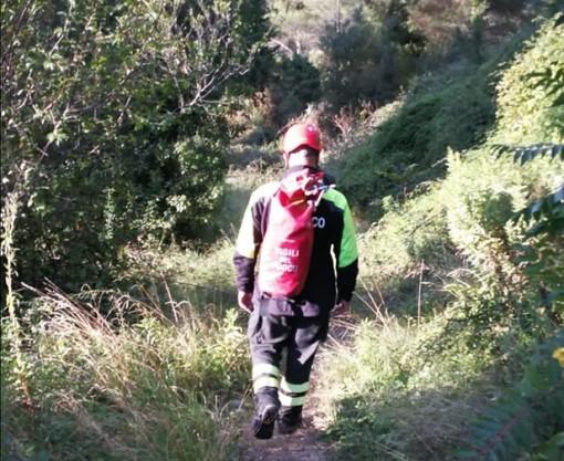 Ventimiglia, migrante disperso lungo il 'passo della morte': ricerche in corso dei Vigili del fuoco e del Saf (Foto)