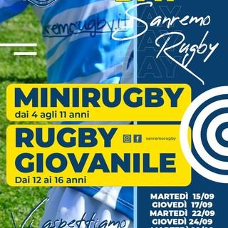 Riprendono gli allenamenti del Sanremo Rugby: tutti i ragazzi dai 4 ai 16 anni sono invitati agli open day