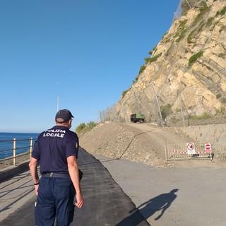 Diano Marina: dopo il rinvio dovuto all'allerta, è stato riaperto questa mattina il versante dianese dell'incompiuta (foto)