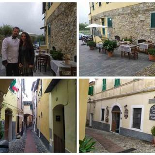A Civezza il ristorante nel carruggio riparte grazie al dehor in piazza (foto e video)