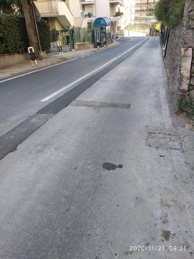 Sanremo: rattoppi sull'asfalto in Via Duca degli Abruzzi, alcune perplessità di un residente