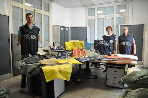 Sanremo: maxi sequestro della Polizia di merce contraffatta. Denunciato uomo di 45 anni