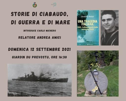 Badalucco: oggi l'incontro sui misteri di Ciabaudo e il legame con un sopravvissuto all'affondamento della Nave Roma
