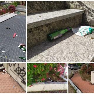 Imperia: parcheggio pubblico di via Verdi da mesi tra sporcizia e degrado a due passi da scuole e uffici, serve più sorveglianza (Foto)