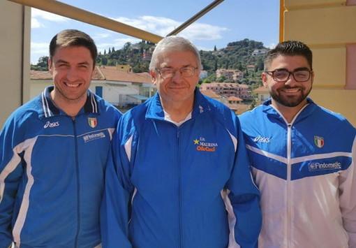 Stefano Montanari insieme ai figli Guido e Michele