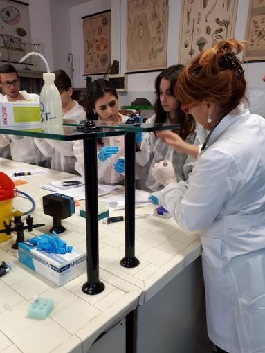 Sanremo: interessanti attività di laboratorio di biotecnologie all'Istituto Colombo, ieri il seminario con l'Università di Genova