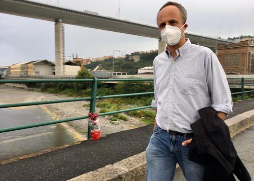 """Ponte di Genova, Ferruccio Sansa: """"Bosogna pensare alla vita sotto il viadotto"""" (video)"""