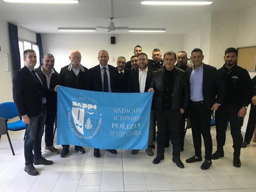 Elezioni Sanremo: il candidato sindaco del centrodestra unito Sergio Tommasini in visita al carcere di Valle Armea