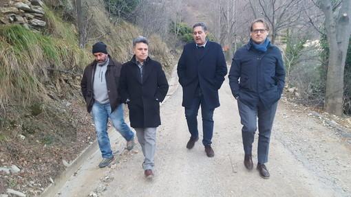 Rezzo: sopralluogo del Presidente della Regione Giovanni Toti e dell'Assessore Marco Scajola a Cenova