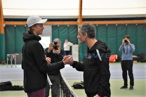 Bordighera: è Fiorello - Sinner al Tennis Club! (Foto e Video)