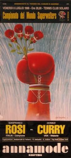'TRA STORIA E RICORDI' rende omaggio al giornalista Alfredo Pigna: l'indimenticabile incontro di pugilato tra Rosi e Don Curry del 1988 a Sanremo