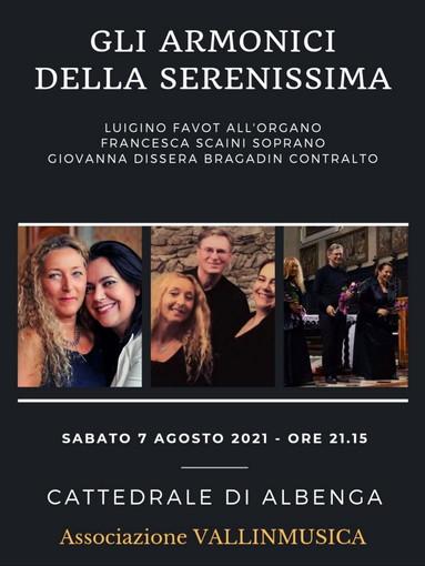 Concerto del trio veneziano 'Gli Armonici della Serenissima' nella Cattedrale di Albenga