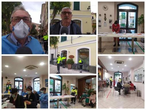 """A Diano Marina si vaccinano gli under 80 senza prenotazione, """"Oltre 200 dosi al giorno, centri periferici migliore soluzione"""" (foto e video)"""