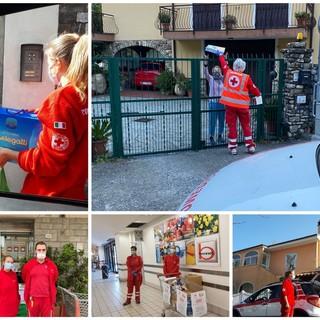 Pontedassio, l'impegno nella Croce Rossa, durante l'emergenza coronavirus, di sette giovani nella consegna di medicine e generi alimentari (foto)