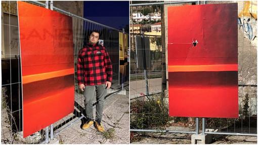 L'opera prima e dopo, con l'artista Andrea Iorio