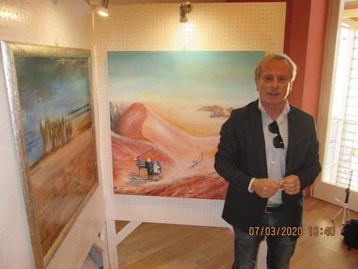 Ventimiglia: dopo il lockdown ha riaperto la mostra delle opere di Franco Carletti